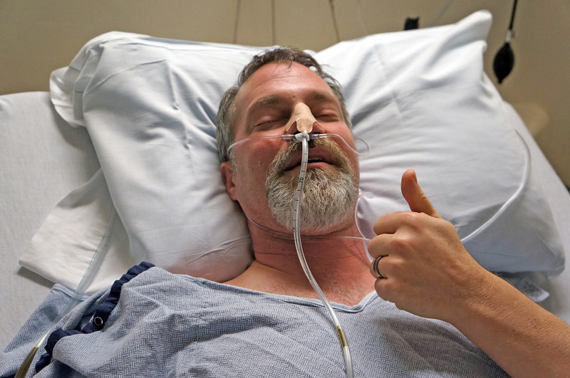 February 2012. Matt fell victim to an abrupt and painful small bowel obstruction at the end of February, requiring emergency surgery...but he came through like a champ.