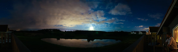 Caldecott Hall Golf Course by Moonlight (Panorama)