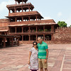 Panch mahal opposite which paccheesi was played. Ramya and I are standing on one of the squares