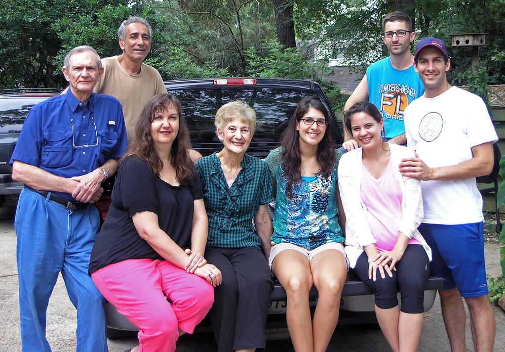 Sep 2.  Family portrait.  Dave Nelson, Asghar, Louise, Betty Nelson, Shirene, Christen, Dustin, Aaron.