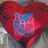 Oct 21.  The girls signed Mom's heart pillow.