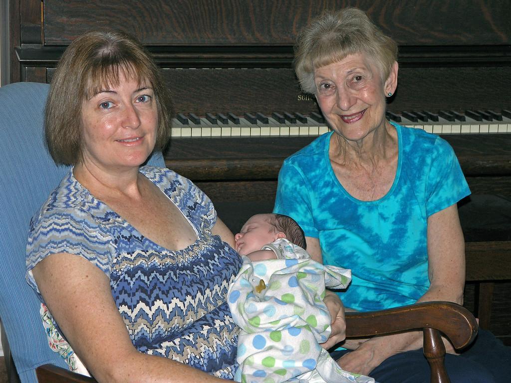 Sep 28.  Grandmother Susan, Brody, Great-grandmother Betty