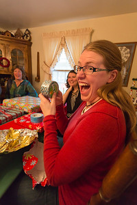 Heather gets more than a little excited about penguin duct tape.