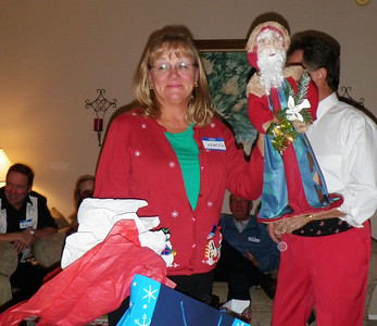 Mary Jo unintentionally chooses an ugly Santa as her gift