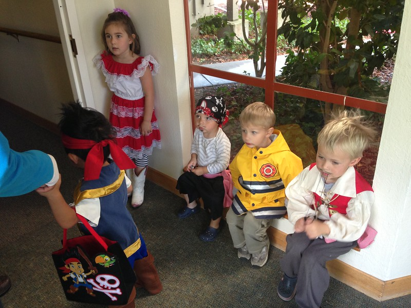 Trick or treating at Redwoods Convalescent Home in Mill Valley.