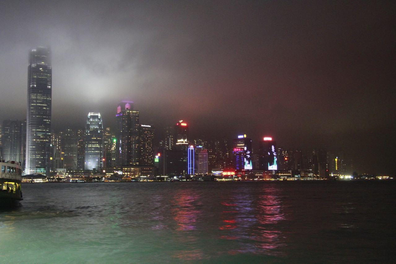 Hong Kong from the Star Ferry, one of the most iconic ferries in the world.