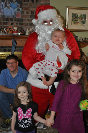 Santa Claus Vists Christmas morning - 2013