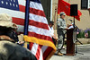 Lt. Gov. Mike Stack, a captain in the Pennsylvania National Guard, speaks during the Memorial Day ceremony at American Legion Post #10, Fort Washington May 25, 2015.