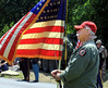 "Bob Raines--Montgomery Media / <br /> A member of Vietnam Veterans of America, Chapter 590, portrays the sentry in a eulogy for fallen comrades, ""The Last Patrol,"" at American Legion Post 10, Fort Washington Monday, May 25, 2015."