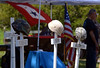 Bob Raines--Montgomery Media / <br /> Memorials placed on the lawn of American Legion Post 10, Fort Washington for their Memorial Day program represent the fallen soldiers of foreign wars May 25, 2015.