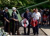 Bob Raines--Montgomery Media<br /> Don Witmer and Ivan Stewart prepare to lace wreaths at the veteran's memorial in during the Memorial Day ceremony in Veterans Park, Wyndmoor May 25, 2015.