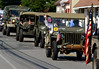 Bob Raines--Montgomery Media<br /> GPA Military Club vehicles drive along Willow Grove Ave., providing transportation for veterans from American Legion and VFW in the Wyndmoor Memorial Day Parade May 25, 2015.