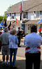Bob Raines--Montgomery Media<br /> Members of the Arthur V. Savage American Legion Post #100 raise the Amercan flag before the start of the Wyndmoor Memorial Day Parade May 25, 2015.