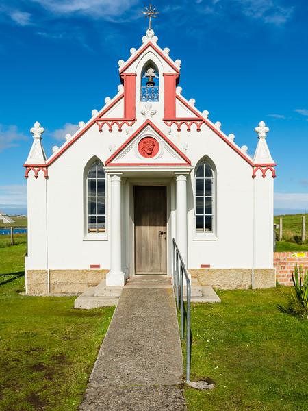 The <a>italian chapel </a>, orkney, Scotland.