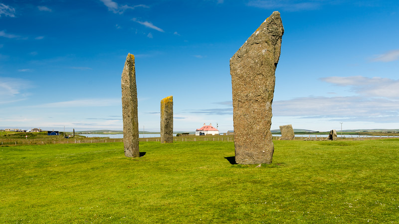 Standing stones of Stennes<br /> Orkney, Scotland.