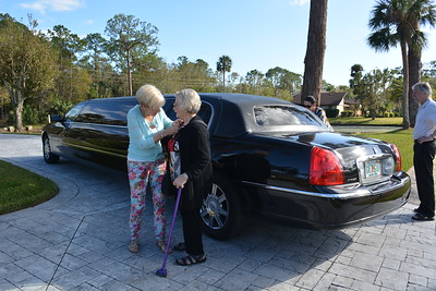 ...takes a bit of encouragement for Billy to give up the limo.