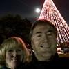 Full moon next the the Tree of Lights.  Fun night with Linda Jane