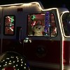Dalmatian inside the Fire Truck