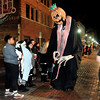 John P. Cleary |  The Herald Bulletin<br /> Character from Nightmare Before Christmas greet people along the parade route.