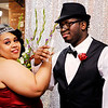 Don Knight | The Herald Bulletin<br /> Danzel and Kelly Edwards pose for a photo after getting married during Hoosier Parks' New Year's Eve festivities on Saturday.