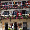 Flower bedecked building at Santillana del Mar, north coast of Spain.