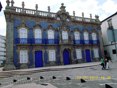 Tile decorated house in Braga, Northern Portugal