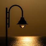 Sunset though a street light