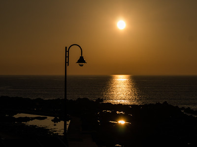 Sunset and a street light