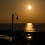 Sunset and a street light