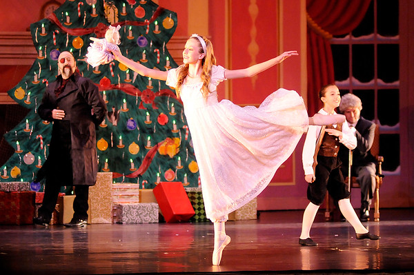 Don Knight |  The Herald Bulletin<br /> Lucy Kelley-Rigney portrays Claire in the Anderson Young Ballet Theatre's production of the Nutcracker on Thursday.