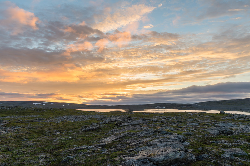 Sunset on the Nordkyn peninsula, Norway.