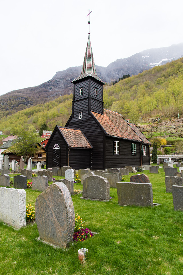 Flåm kirke.<br /> Norvège.