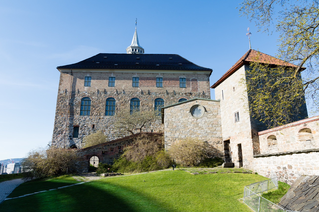 Inside the Akershus fortress.<br /> Oslo, Norway.