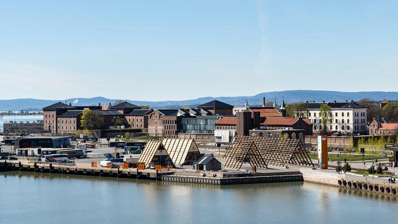 Vue depuis le toit de l'opéra d'Oslo. <br /> <br /> Oslo, Norvège.