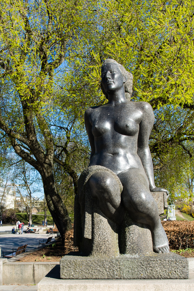 statue near the city hall of Oslo.<br /> <br /> Norway.