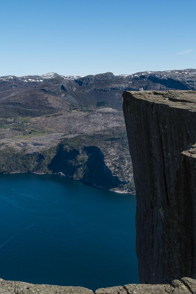 View of the Preikestolen / pulpit rock.<br /> Norway.