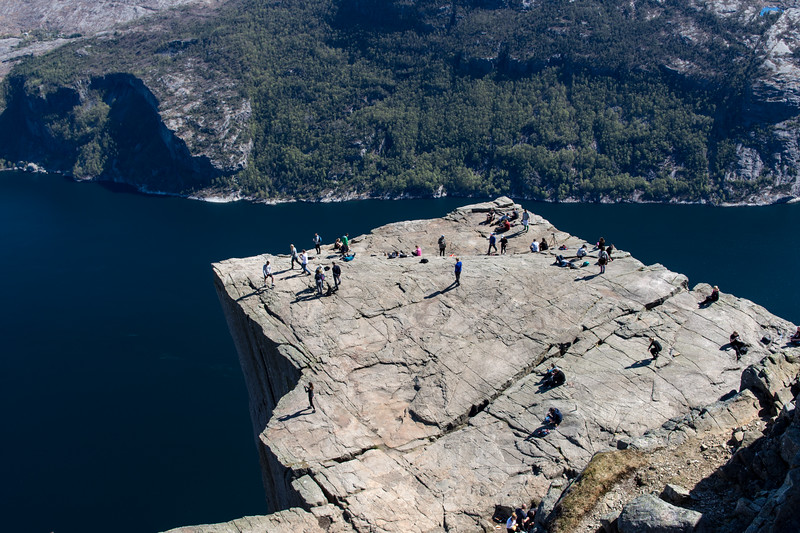The preikestolen (pulpit rock) from above.<br /> Norway