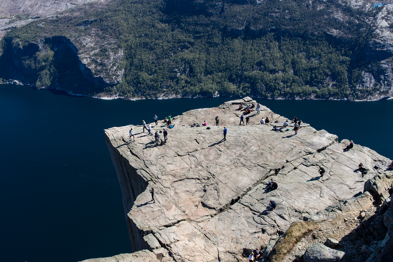 The preikestolen (pulpit rock) from above.<br /> Norway