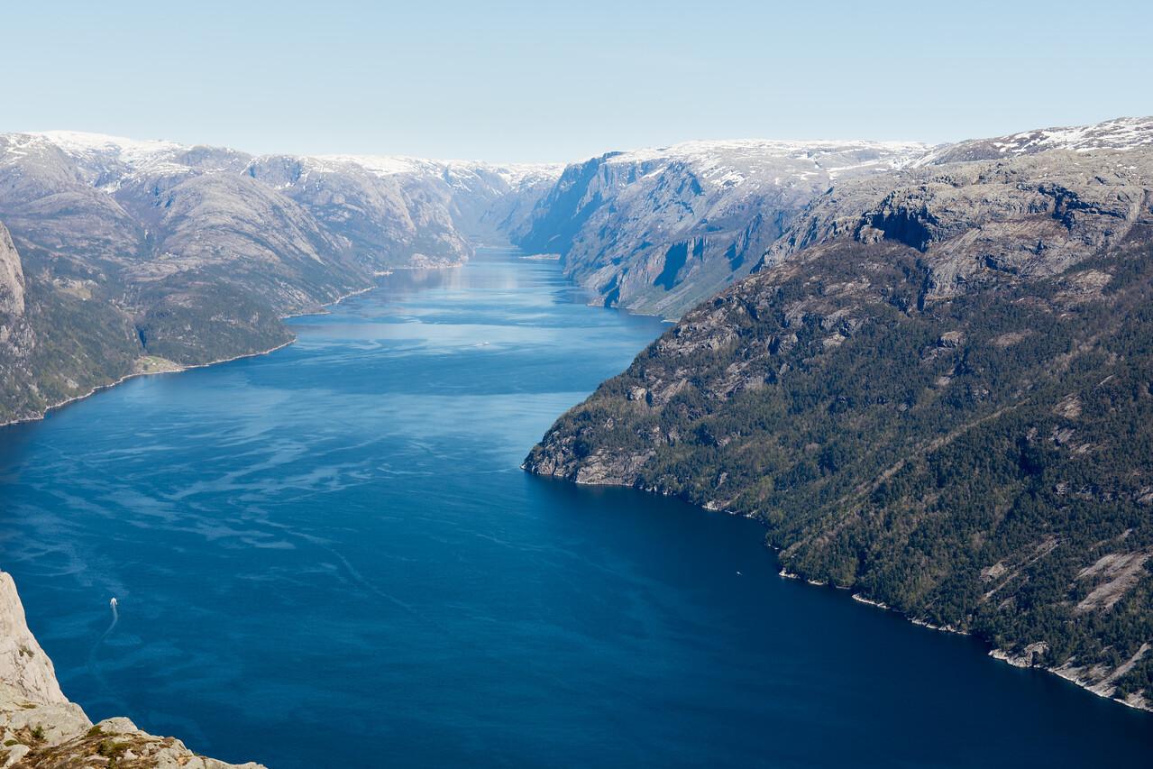 Vue du Lysefjord.<br /> Norvège.