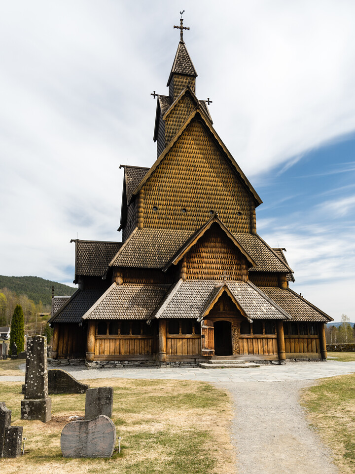 Heddal stave church.<br /> Notodden, Norway.