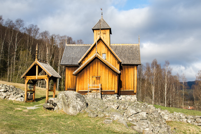 Uvdal stave church.<br /> Norway.