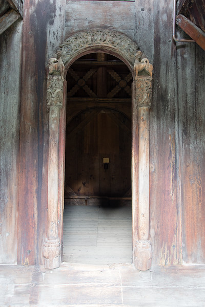 One of the doors of the Borgund stave church<br /> Norway.