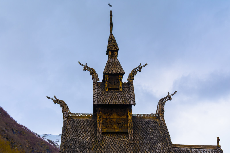 The roof of the Borgund stave church.<br /> Norway