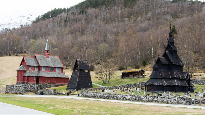 Borgund stave church.<br /> Norway