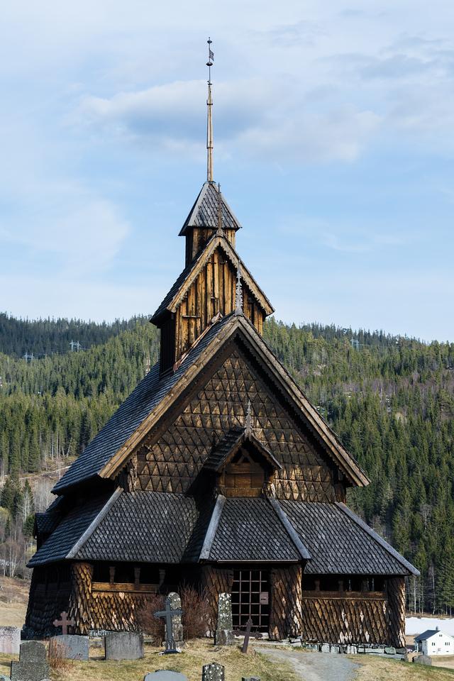 Eidsborg stavkirke, Norway.