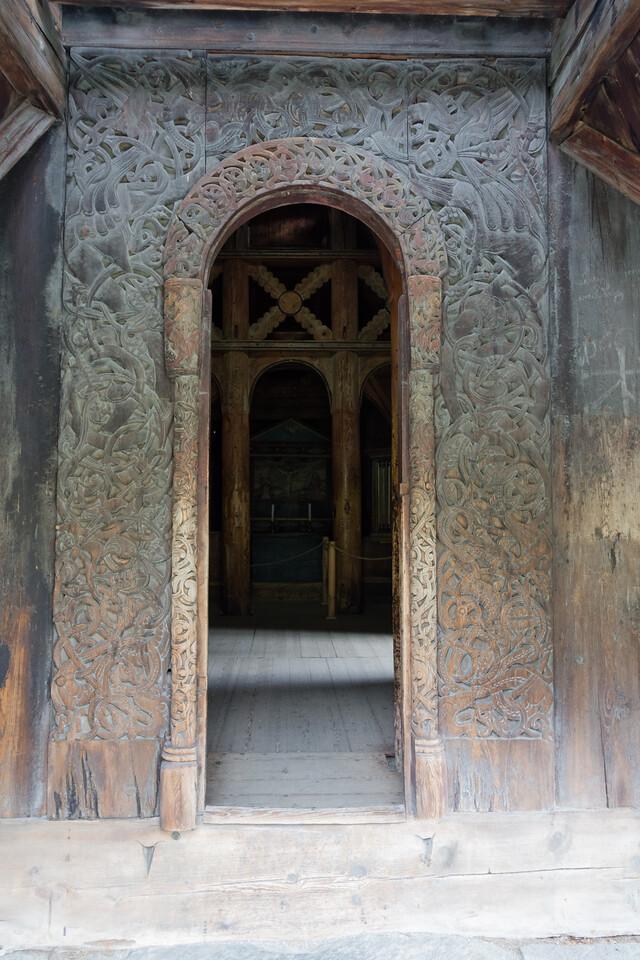 Door of the Borgund stave church.<br /> Norway