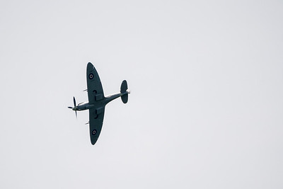 Spitfire over Lydden Hill