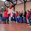 Don Knight | The Herald Bulletin<br /> Highland Middle School Choir performs during the city of Anderson's Christmas Celebration on Saturday.