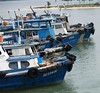 Bum boats - those used as ferries between Singapore and  the small islands arround the coast