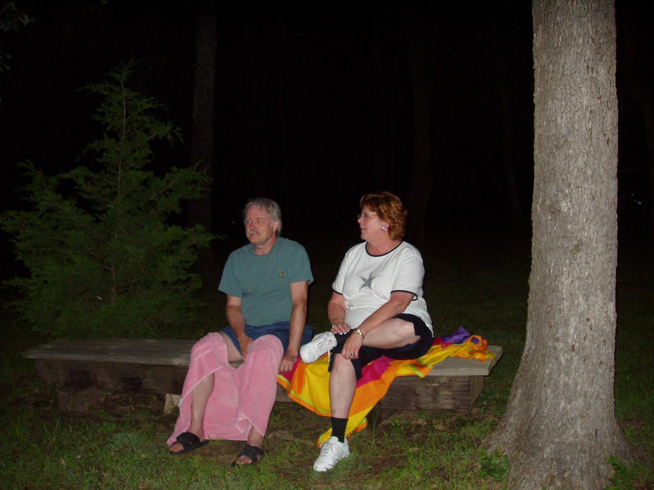 David and Cindy Davis watch the fireworks